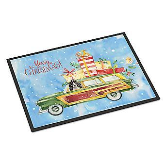 Merry Christmas Black Parti Cocker Spaniel Indoor or Outdoor Mat 18x27