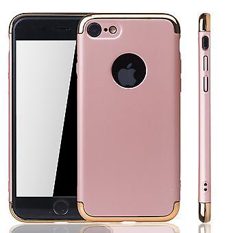 Silicon ihon cover asia Applen iPhone 7 puskurin 3 in 1 kattaa kromi Rose kultaa