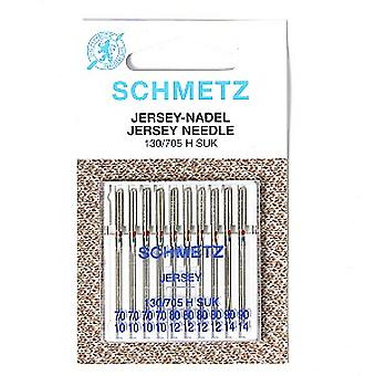 Schmetz Sewing Machine Needles - Jersey / Ball Point, Pack of 10 (Size: Assorted 70/10 - 90/14)