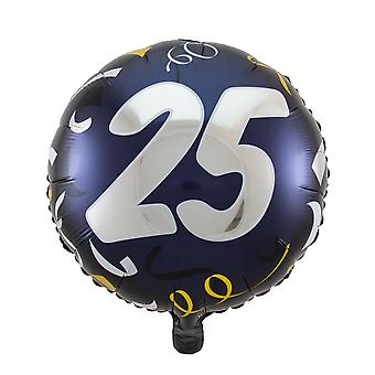 Foil balloon birthday number 25 great day about 45 cm