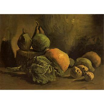 Still Life with Vegetables and Fruit, Vincent Van Gogh, 32,5 x43cm