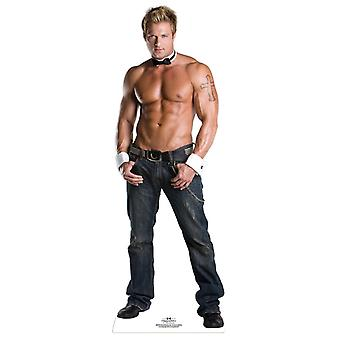 Billy wearing Bow Tie and Shirt Cuffs - Chippendales Lifesize Cardboard Cutout / Standee