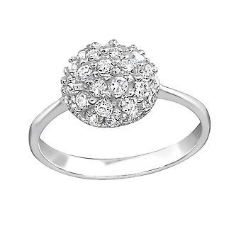 Kreis - jeweled 925 Sterling Silber Ringe - W15443X