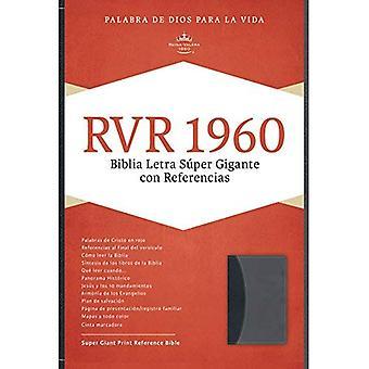 Rvr 1960 Biblia Letra Super Gigante, Negro/Gris Simil Piel