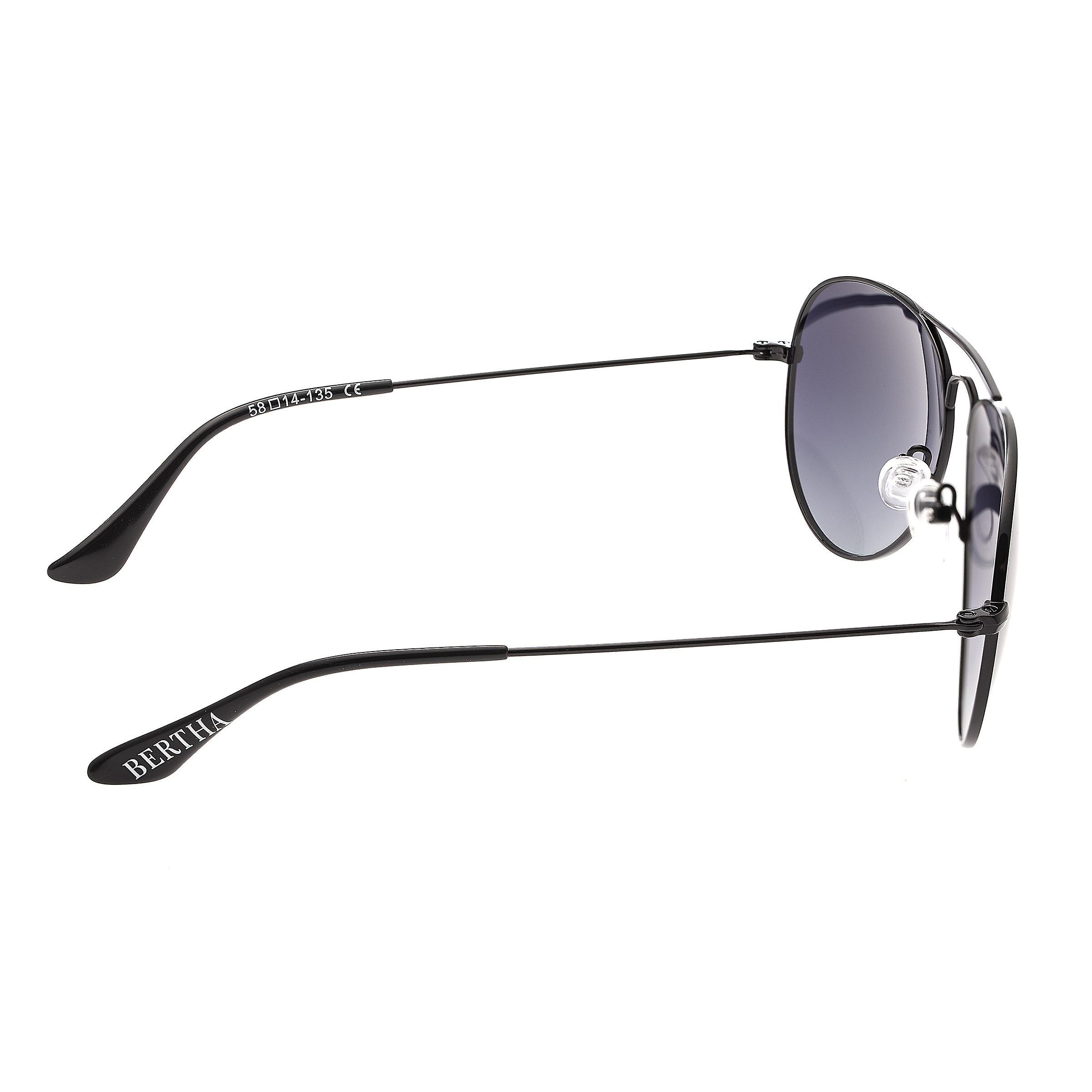 Bertha Brooke Polarized Sunglasses - Black/Black