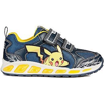 Geox jungen Shuttle Pokemon Lichter Trainer Navy gelb