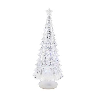 TRIXES 22cm Coloured Changing Acrylic Tree Christmas Decoration
