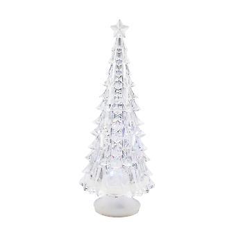 TRIXES 22cm färgade ändra akryl Tree juldekoration