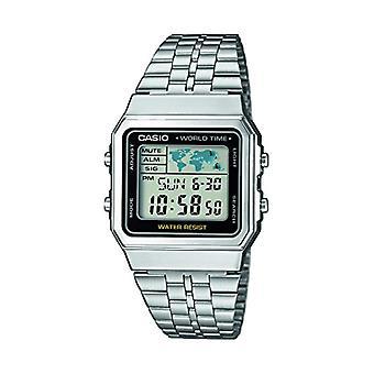 Casio digital watch quartz men with stainless steel strap A500WEA-1EF