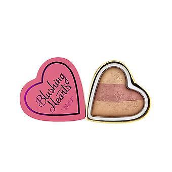 Makeup Revolution Blushing Hearts-Peachy Keen Hearts Blusher