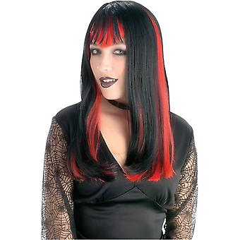 Widow Wig Black And Red