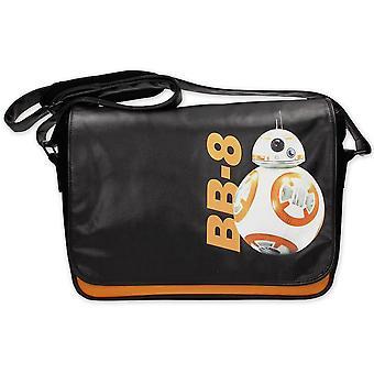 Star Wars Episode 7 Messenger taske BB-8 Astrodroide sort, trykt, fremstillet af PVC, med justerbar skulderrem.