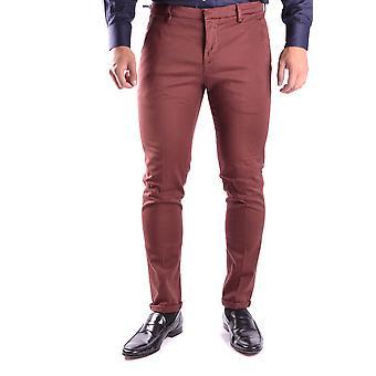 Dondup Ezbc051002 Men's Burgundy Cotton Pants