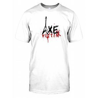 Machado vítima-Funny Guitar Mens camiseta