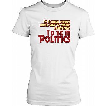 Si je pouvais trouver un moyen de rendre la criminalité Pay ... - Citation drôle de dames T-shirt