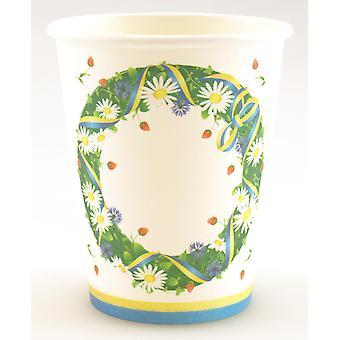 Disposable Cups 24-pack paper Midsummer