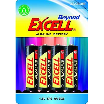 Batteries AA 4-pack , LR6 Excell Beyond Alkaline Battery