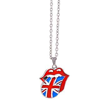 Rolling Stones Union Jack Tongue Metal Pendant Necklace  (ro)