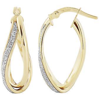 Mark Milton Glitter Twist Earrings - Yellow Gold/Silver