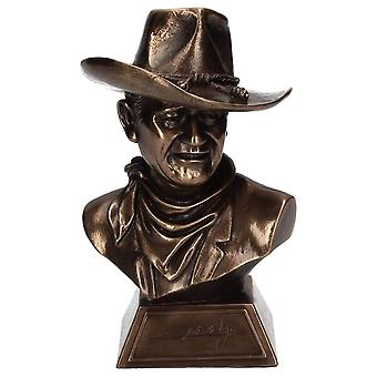 John Wayne Small Collectable Bronze Bust - 18cm