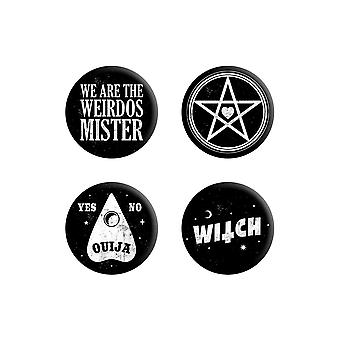 Grindstore We Are The Weirdos Mister Badge Pack