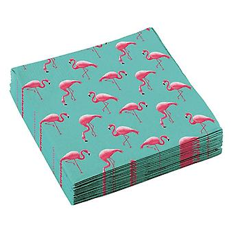 Flamingo Beach Party Servietten 33*33 cm 20 Stk Sommer Grill Fest Geburtstagsparty