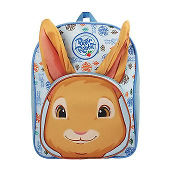 Peter Rabbit Boys Floral Print School Backpack, 3.4 Litre, Blue