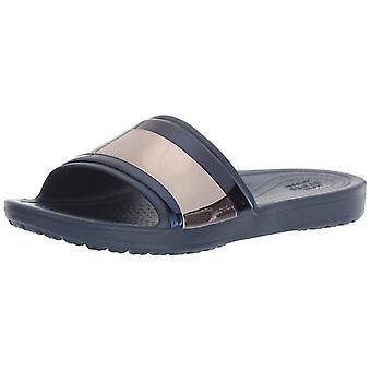 Crocs Women's Sloane MetalBlock Slide Sandal