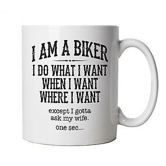 I Am A Biker, Mug - Motorbike MotoGP Superbike TT Gift Him Dad Fathers Day Xmas