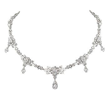 Eternal Collection Beauty Crystal Silver Diamante Necklace