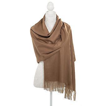 Eternal Collection Pashmina Camel Oblong Soft Polyester Scarf