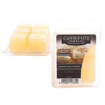 Candle-Lite Wax Melt Packs für den Einsatz mit Melt Tart & Oil Burners Cremig Vanille Wirbel