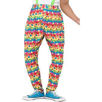 Clown Trousers, Fancy Dress, Medium