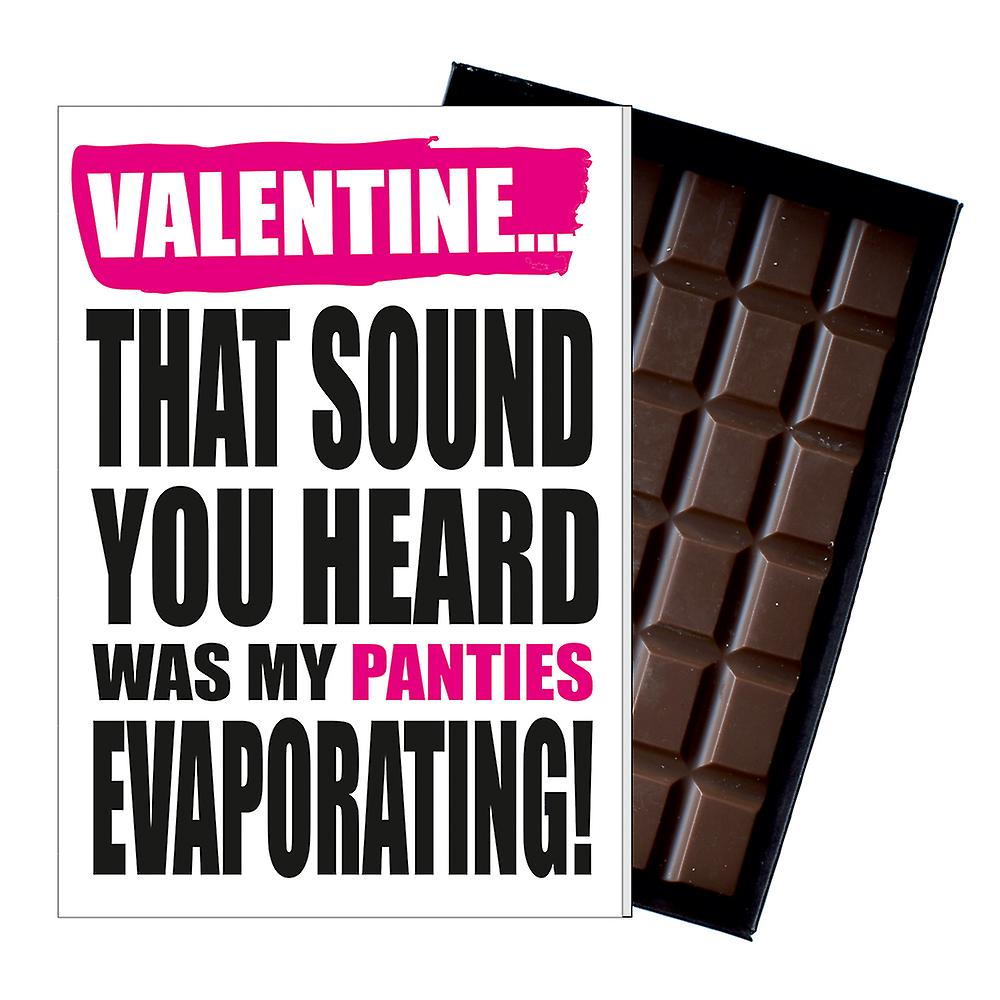 Funny Valentine?s Day Gift A Rude Naughty Present for Men 85g Chocolate Card IYF127
