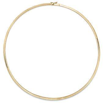 Jewelco London 9ct guld Omega Wire krage halsband 3mm