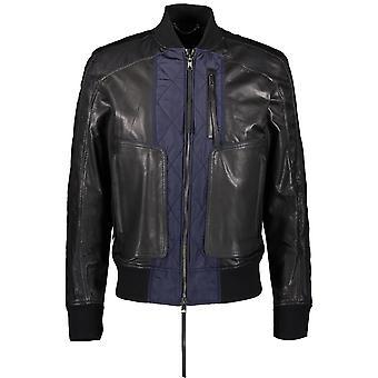 Diesel Black Gold Lamesh 900 Leather Jacket