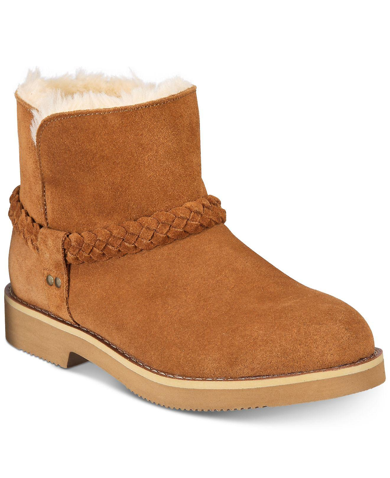 Style et Co. Womens KAII Suede Closed Toe Ankle Cold Weather Boots