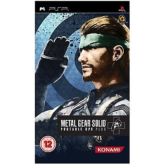 Metal Gear Solid Portable Ops Plus (PSP) - New
