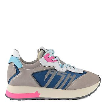 Ash Footwear Tiger Grey And Blue Trainer