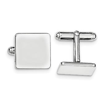 925 Sterling Silver Solid Polished Engravable Square Cuff Links Jewelry Gifts for Men - 13.3 Grams