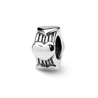925 Sterling Silber Finish Reflexionen SimStars Liebe Herz Perle Anhänger Anhänger Halskette Schmuck Geschenke für Frauen