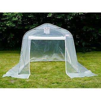Polytunnel Greenhouse, 2.4 x6x 2.4 m, PE, 14,4 m², läpinäkyvä