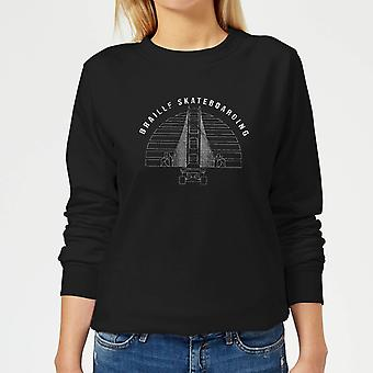 Braille Skateboarding Limited Edition Bridge Sunset Women-apos;s Sweatshirt - Noir