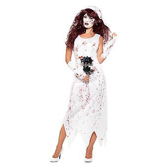 Naisten aikuisten zombie morsian Halloween Fancy mekko puku