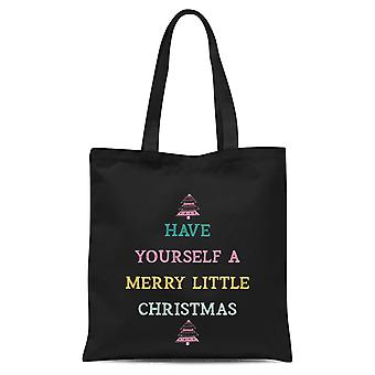 Have Yourself A Merry Little Christmas Tote Bag - Black