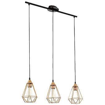 EGLO Tarbes koppar färgad Triple Drop Bar hänge ljus