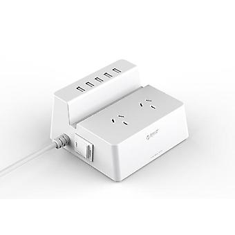 Orico ODC-2A5U 2 AC Outlets met 5 Smart Charging USB 40W poorten