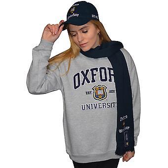 Ou201 unisex licensed oxford university™ sweatshirt sports grey