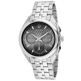 Bulova Men's Curv Black Dial Watch - 96A186