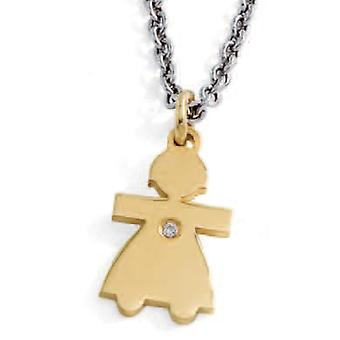 ZABLE Stainless Steel GIRL Necklace